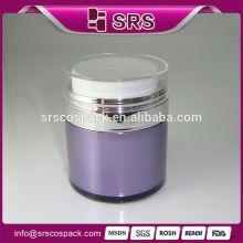 Chinese Cosmetic Packaging Acrylic Serum Airless Pump Jar And Plastic Round 15ml 30ml 50ml Cream Shape Airless Jars And Bottles
