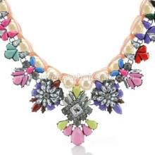 2014 neuer Stil Faux Perle Link Acryl Perlen Charm Halskette