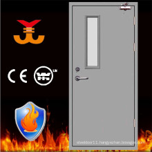 Fire rated metal door with glass