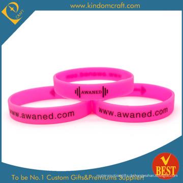 Preiswertes besonders angefertigtes Art und Weise prägeartiges gedrucktes Wristband