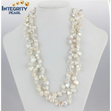 "Keshi Pearl Necklace 8-10mm 47 ""Keshi Pearl Jewelry Fashion Pearl Necklace"