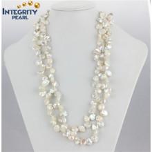 """Keshi Perlen-Halskette 8-10mm 47 """"Keshi Perlen-Schmucksache-Art- und Weiseperlen-Halskette"""