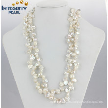 """Keshi Pearl Necklace 8-10mm 47"""" Keshi Pearl Jewelry Fashion Pearl Necklace"""