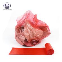 Sacs à ordures poubelle rouge jetables sacs à ordures