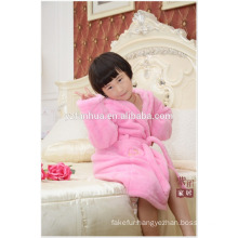 Stocked Lovely Pink Coral fleece bathrobe for Children Age Group