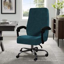 Fundas de silla de comedor de escritorio estirable de terciopelo para oficina en casa