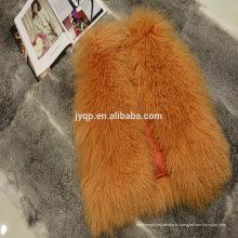 Оптовая Тибетский Монгольский Овчины Мех Пальто Для Женщины