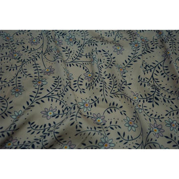 100% Polyester Sea Island Hammer Satin Print Fabric