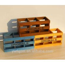 Caja de almacenamiento de madera tallada a mano para regalo de decoración de Navidad