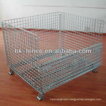 Hot Dipped Galvanized Foldable Wire Container