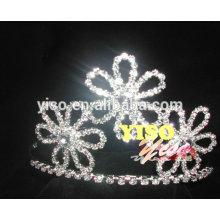 Invitación de boda flor de diamante desfile de moda tiara