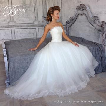 Elegantes vestidos de un línea de Novia de encaje 2016 (SL308-1)