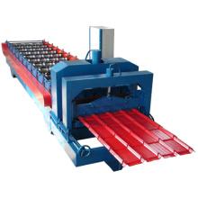 Rolo de painel de telhado dá forma à máquina