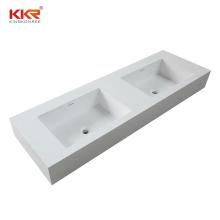 Solid Surface Double sink bathroom Hotel vanity top