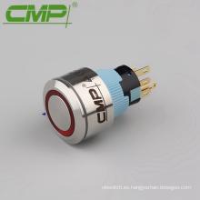 1NO 1NC o 2NO 2NC 22mm Impermeable Interruptor de luz de botón LED de acero inoxidable
