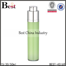 50ml acrylic lotion airless clear bottle,50ml airless clear pet bottle for cosmetic