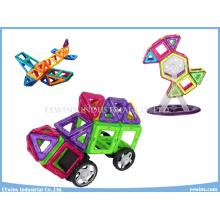 98 STÜCKE Mag Bausteine Spielzeug Magnetische Puzzle Spielzeug Weisheit DIY Spielzeug mit Rädern Lernspielzeug für Kinder