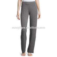 Casual con pantalones de cachemira puros para mujer