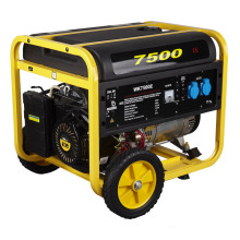 Generador portátil de la gasolina del poder de 6000 vatios 6500W 6kw con el CE, certificado de Soncap (WK-7500E)