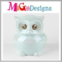 High Quality Gifts Decor Ceramic Owl Money Bank