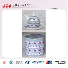 Чайный фарфоровый чай с блюдцем