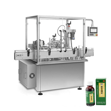 High Performance Rotary Table Syrup Liquid Bottle Filling And Capping Machine