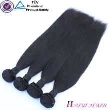 Бразильские Волосы 3 Часть Кружева Закрытие Прямо Закрытие Волос Связки Прямой Человеческих Волос Weave