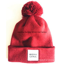 Export to Europe High Quality Embroidered Patch Beanie