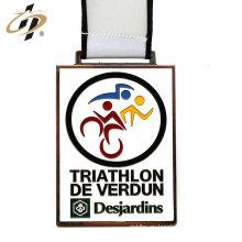Medallas de bronce de aleación de zinc antiguo personalizado medallas de deportes con cordón