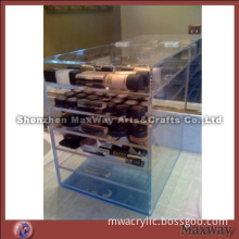 Acrylic Makeup/Perfume Case Holder with 5 Drawers and Lid