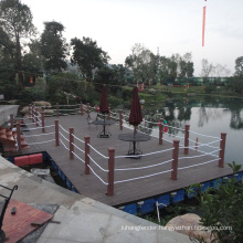 Recycle plastic modular pontoon floating platform