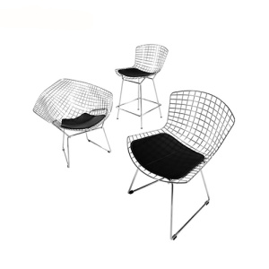 Eames Knoll Bertoia Dây Cushion Side Chair