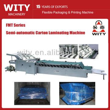 Machine à stratifier semi-automatique à carton ondulé