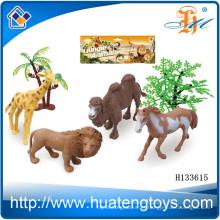 2014 Wholsale pequeña estatuilla de plástico de animales salvajes salvajes, estatuillas de animales de resina juguete H133615