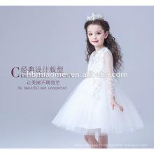 Vente chaude nouvelle conception bébé fille princesse robe de danse porter blanc couleur dentelle robe de bal tu tu robe pour fille