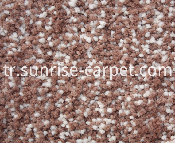 Microfiber Shaggy Rug Beige mix color