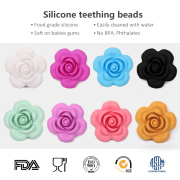coral beads jewelry designs flower shaped beads silicone chew toys