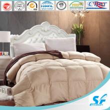100% algodón de tela lavable de lana de oveja de relleno de edredón