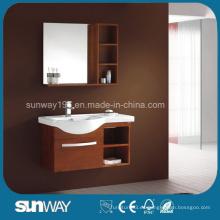Nuevo gabinete de tocador de baño de madera maciza con buena calidad