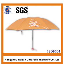 Paraguas plegable de la belleza más barata 3 de la alta calidad para los regalos de la promoción