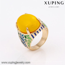 14678 xuping jewelry fashion noble colorful decorative pattern finger ring with 18k gold color