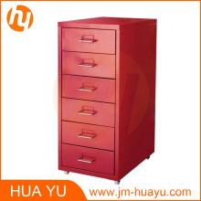 Meubles de maison et de bureau rouge classeur mobile de meubles ou de stockage de 6 tiroirs