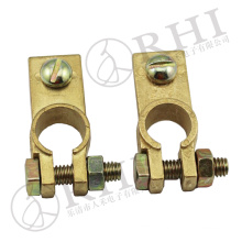 Supply pure copper/brass car battery connectors battery terminal clip manufacturer wholesale