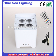 Small battery operated led light Wireless DMX 4*18W LED battery Par light