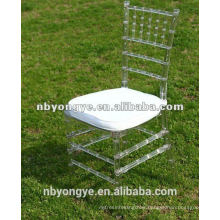 China factory price high quality Crystal Clear Resin Tiffany Chair