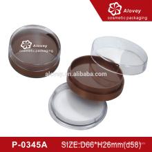 Runde Kompaktpulver Verpackung Flaschen Kosmetische Puffbehälter