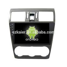 Quatro núcleos! Dvd do carro Android 6.0 para FORESTER 2014 com tela sensível ao toque de 9 polegadas full touch / GPS / espelho / DVR / TPMS / OBD2 / WIFI / 4G