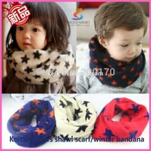 Cachemira tejida cuello más caliente / bandana tubular / brillante bufanda hecha punto magia