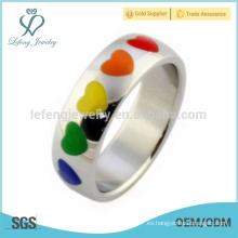 Nuevos anillos de boda del orgullo gay, anillos gay de la promesa, tiendas gay