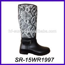 women high heel boot new pu upper rain boot